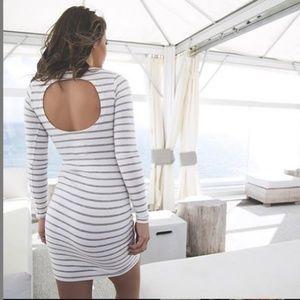 Chaser Striped Long Sleeve Mini Dress